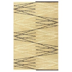 Vintage Swedish Rug by Aina Kange. Size: 4 ft 3 in x 6 ft 7 in (1.3 m x 2.01 m)
