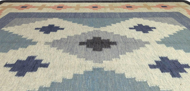 Mid-Century Modern Vintage Swedish Rug by A.J For Sale