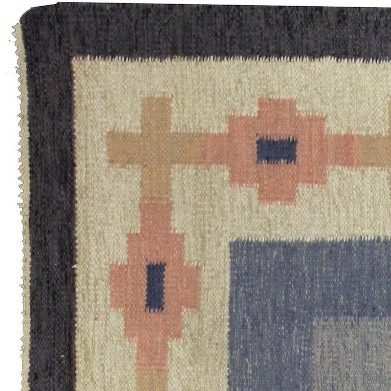 Vintage Swedish Rug by A.J In Good Condition For Sale In New York, NY