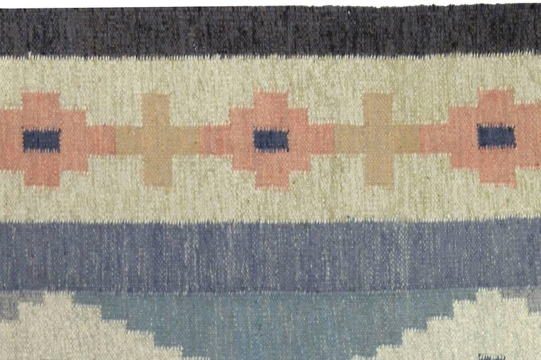 20th Century Vintage Swedish Rug by A.J For Sale