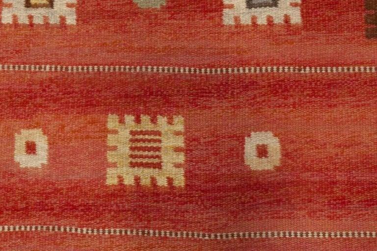 Vintage Swedish rug by Carl Dangel Size: 6'7