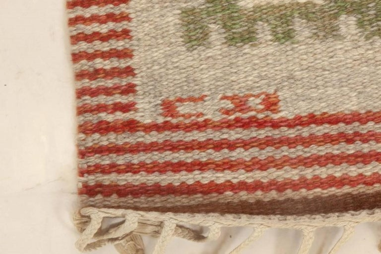 Vintage Swedish Rug by Carl Dangel In Excellent Condition In New York, NY
