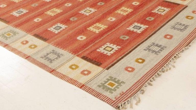 Wool Vintage Swedish Rug by Carl Dangel