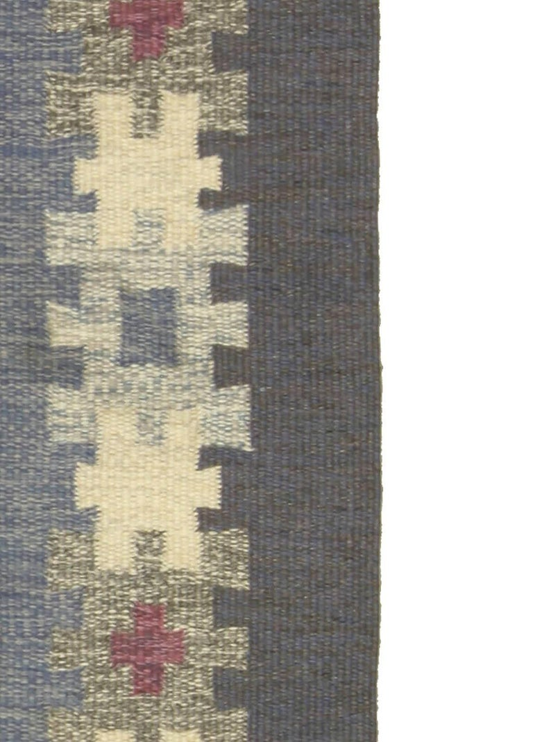 Vintage Swedish Rug by I.S. In Good Condition For Sale In New York, NY