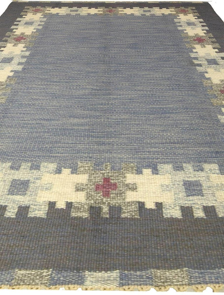 20th Century Vintage Swedish Rug by I.S. For Sale