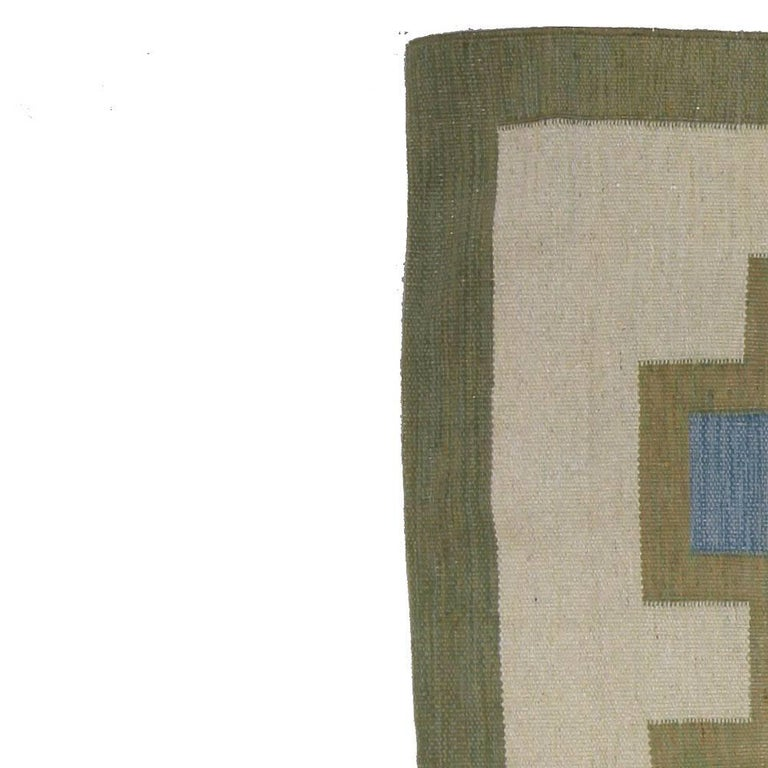 Vintage Swedish Rug by K.P. In Good Condition For Sale In New York, NY
