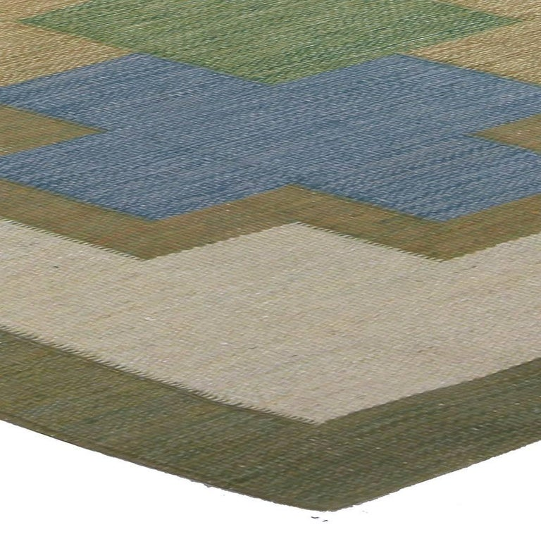 20th Century Vintage Swedish Rug by K.P. For Sale