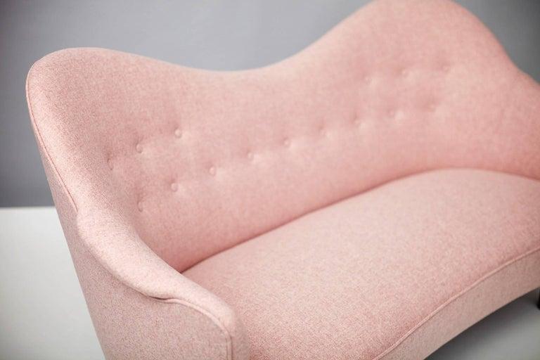 Scandinavian Modern Vintage Swedish Sampsel Sofa by Carl Malmsten, 1956 For Sale
