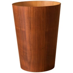 Vintage Swedish Teak Wastepaper Bin by Servex