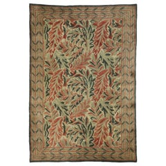Vintage Swedish William Morris Acanthus Inspired Rug with Arts & Crafts Style
