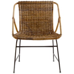 Vintage Swedish Woven Club Chair