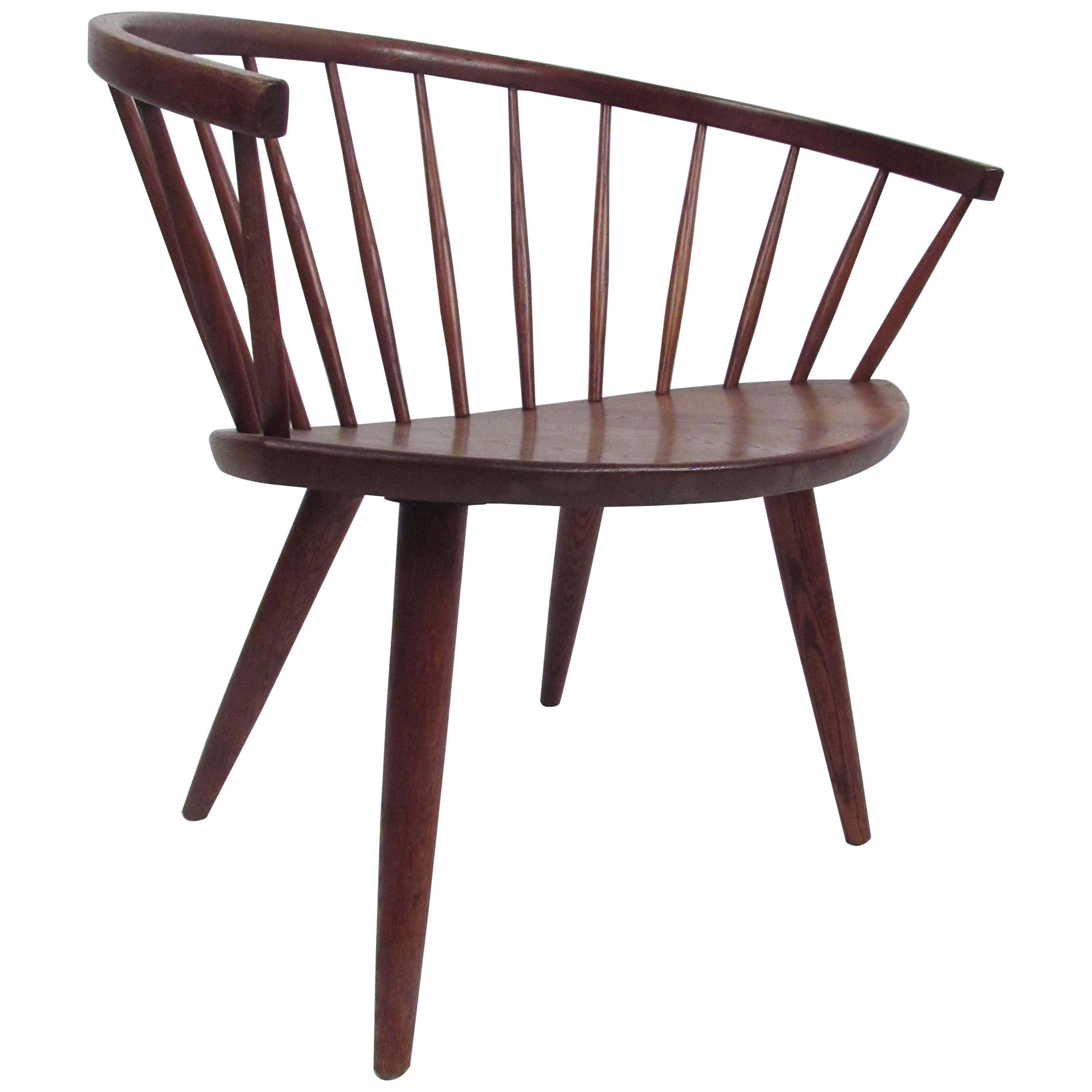 "Vintage Swedish Yngve Ekstrom ""Arka"" Chair"
