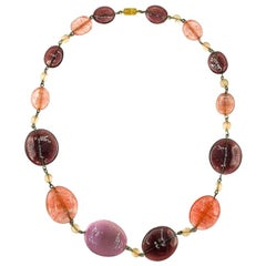 Vintage Sweetie Style Glass Necklace 1950s