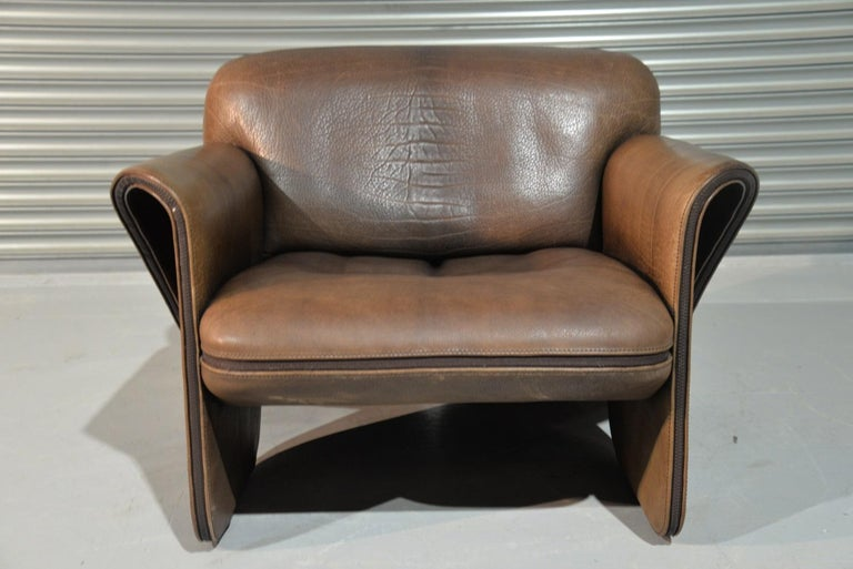 Vintage De Sede 'DS 125' Sofa and Armchair by Gerd Lange, Switzerland 1978 For Sale 4