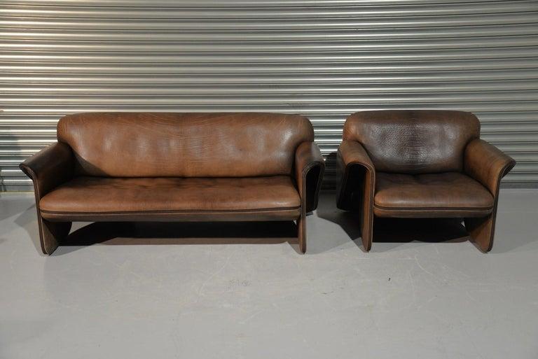 Swiss Vintage De Sede 'DS 125' Sofa and Armchair by Gerd Lange, Switzerland 1978 For Sale