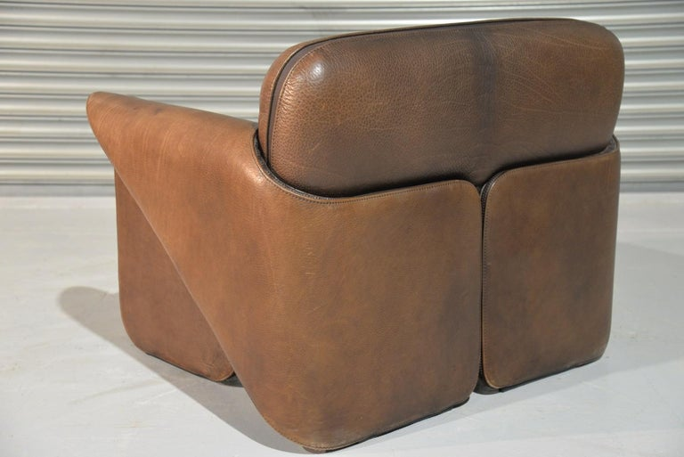 Leather Vintage De Sede 'DS 125' Sofa and Armchair by Gerd Lange, Switzerland 1978 For Sale