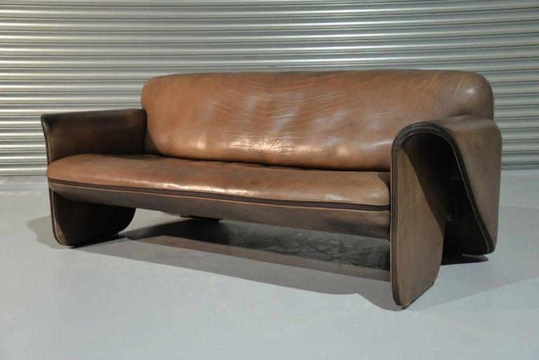 Vintage De Sede 'DS 125' Sofa Designed by Gerd Lange, Switzerland 1978 In Good Condition For Sale In Fen Drayton, Cambridgeshire