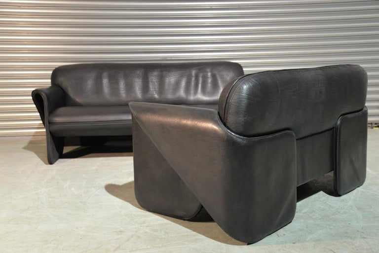 Leather Vintage De Sede DS 125 Sofas Designed by Gerd Lange, Switzerland 1978 For Sale