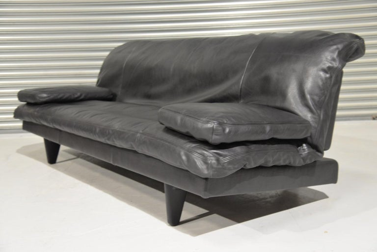 Mid-Century Modern Vintage Swiss de Sede DS 169 leather Sofa and Daybed, 1970s For Sale