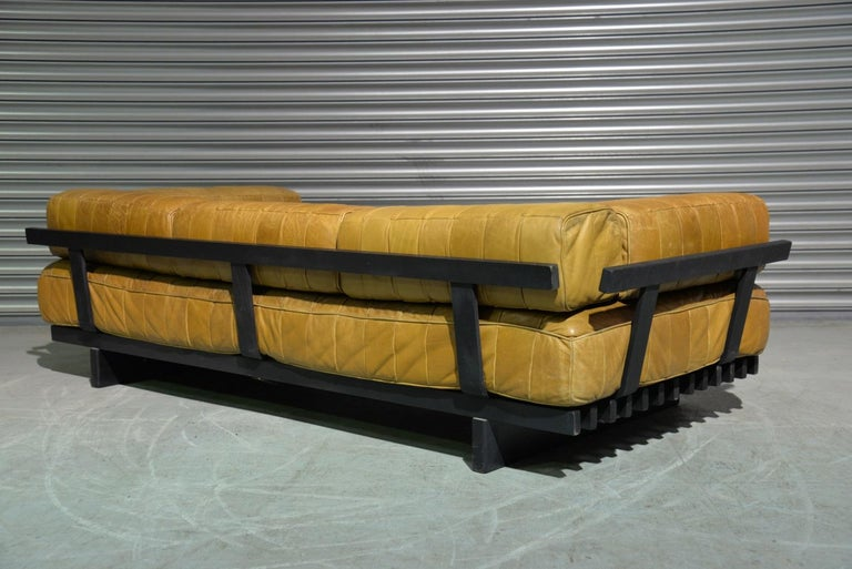 Vintage Swiss De Sede DS 80 Patchwork Leather Daybed, 1960s For Sale 4