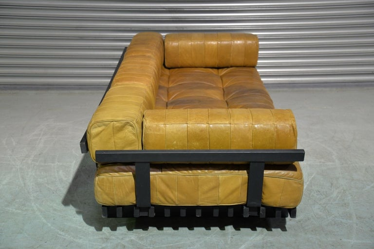 Vintage Swiss De Sede DS 80 Patchwork Leather Daybed, 1960s For Sale 5