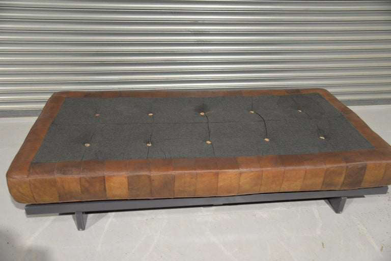 Vintage De Sede DS 80 Patchwork Leather Daybed, Switzerland 1960s 11