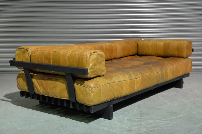 Vintage Swiss De Sede DS 80 Patchwork Leather Daybed, 1960s For Sale 6