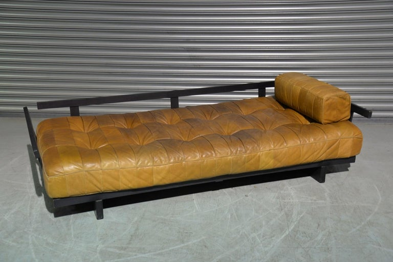 Vintage Swiss De Sede DS 80 Patchwork Leather Daybed, 1960s For Sale 7