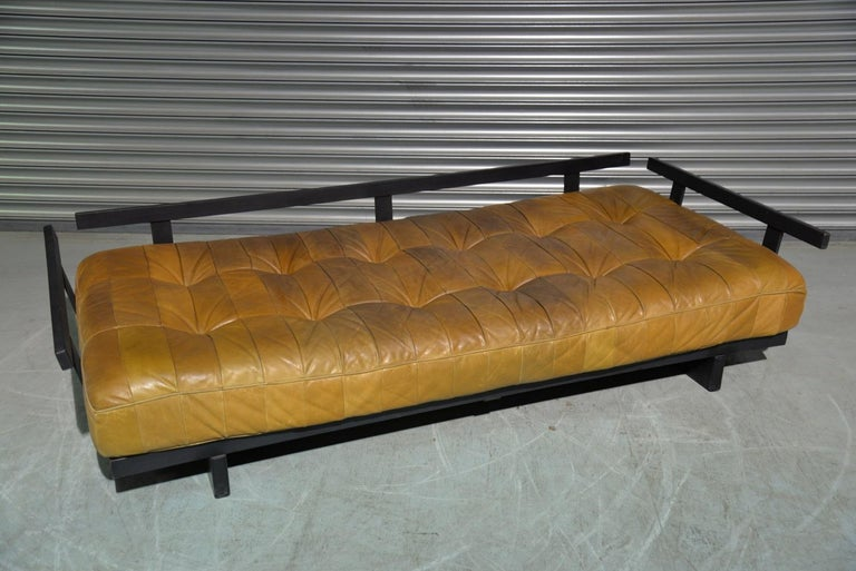 Vintage Swiss De Sede DS 80 Patchwork Leather Daybed, 1960s For Sale 8
