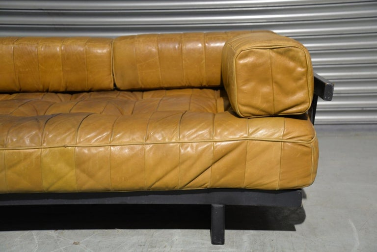 Vintage Swiss De Sede DS 80 Patchwork Leather Daybed, 1960s For Sale 9