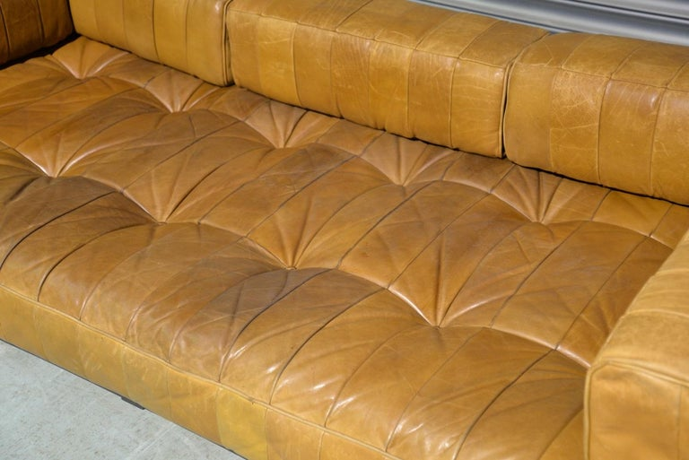Vintage Swiss De Sede DS 80 Patchwork Leather Daybed, 1960s For Sale 10