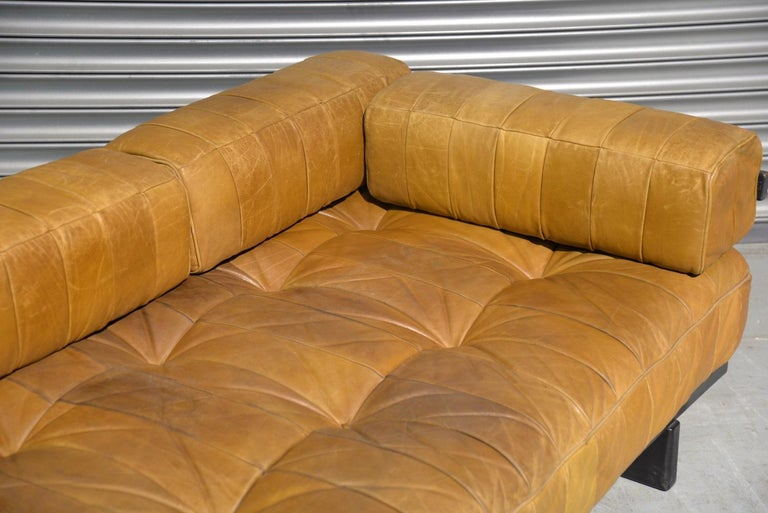 Vintage Swiss De Sede DS 80 Patchwork Leather Daybed, 1960s For Sale 11