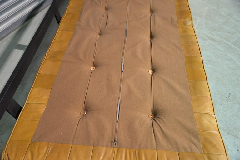 Vintage Swiss De Sede DS 80 Patchwork Leather Daybed, 1960s For Sale 12