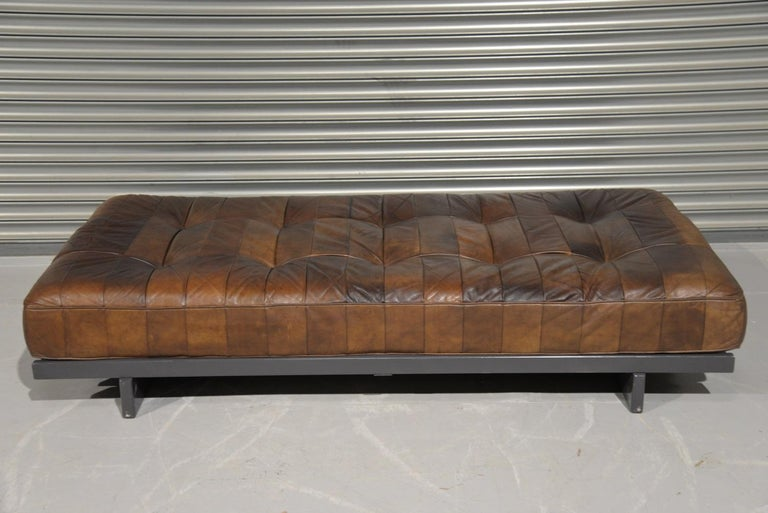 Mid-Century Modern Vintage De Sede DS 80 Patchwork Leather Daybed, Switzerland 1960s For Sale