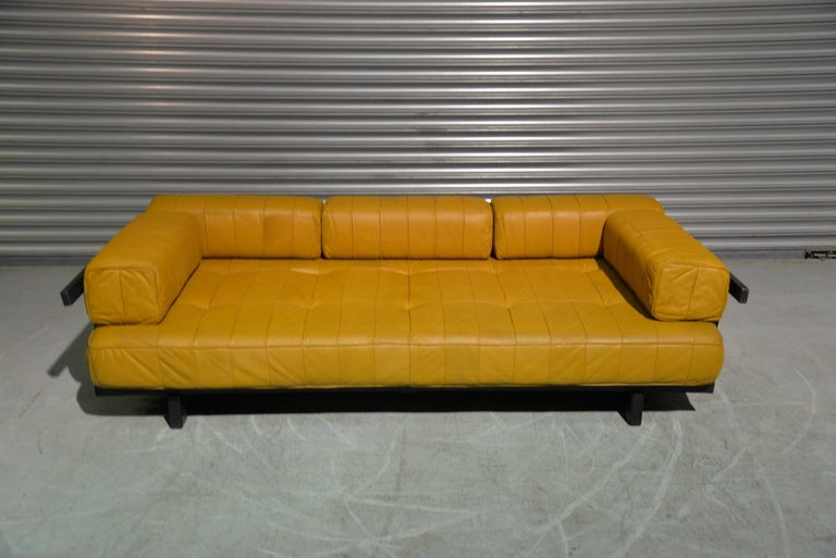 Mid-Century Modern Vintage de Sede DS 80 Patchwork Leather Daybed, Switzerland 1960`s For Sale