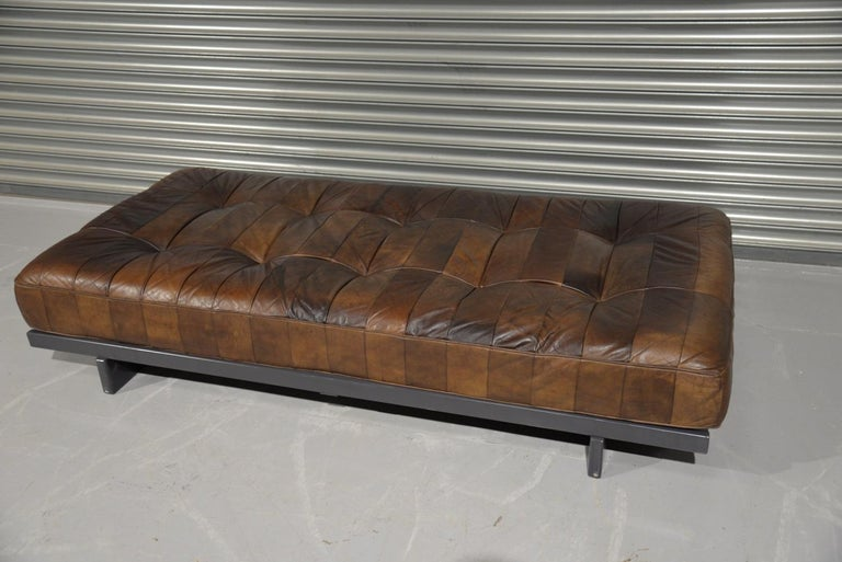 Swiss Vintage De Sede DS 80 Patchwork Leather Daybed, Switzerland 1960s For Sale