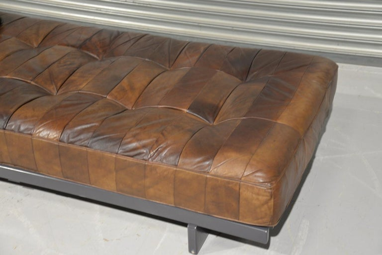 Mid-20th Century Vintage De Sede DS 80 Patchwork Leather Daybed, Switzerland 1960s For Sale