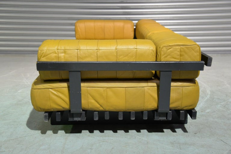 Mid-20th Century Vintage de Sede DS 80 Patchwork Leather Daybed, Switzerland 1960`s For Sale