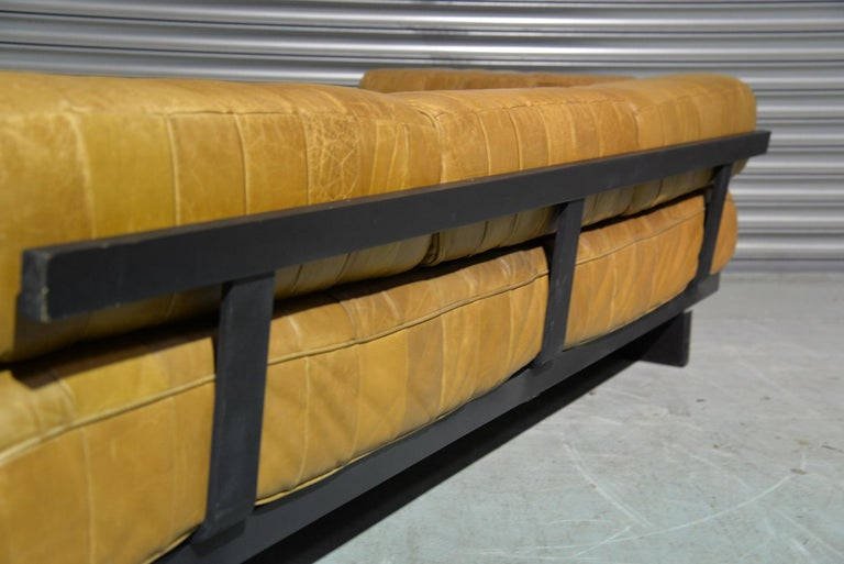 Vintage Swiss De Sede DS 80 Patchwork Leather Daybed, 1960s For Sale 2