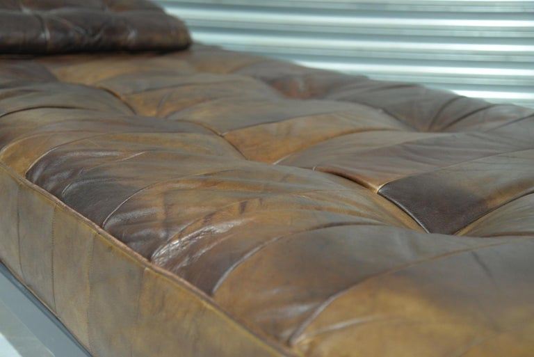 Vintage De Sede DS 80 Patchwork Leather Daybed, Switzerland 1960s For Sale 3