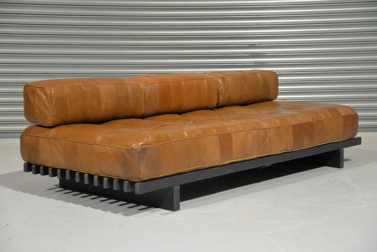 Vintage De Sede DS 80 Leather Patchwork Daybed, Switzerland, 1960s For Sale 5