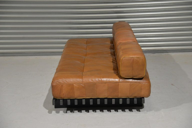 Mid-Century Modern Vintage De Sede DS 80 Leather Patchwork Daybed, Switzerland, 1960s For Sale