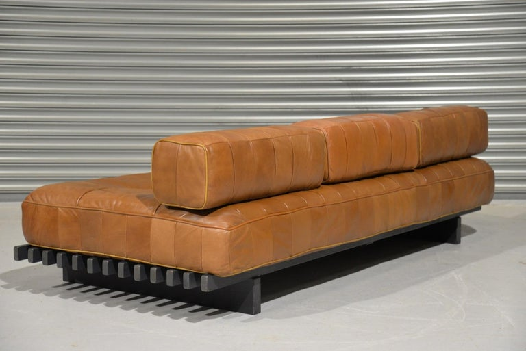 20th Century Vintage De Sede DS 80 Leather Patchwork Daybed, Switzerland, 1960s For Sale
