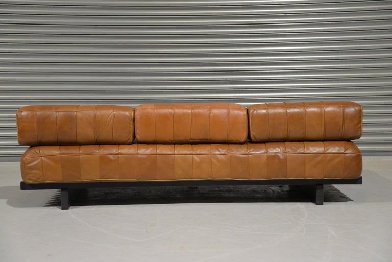 Vintage De Sede DS 80 Leather Patchwork Daybed, Switzerland, 1960s For Sale 1