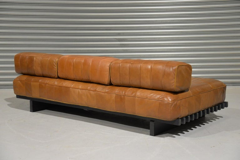 Vintage De Sede DS 80 Leather Patchwork Daybed, Switzerland, 1960s For Sale 2
