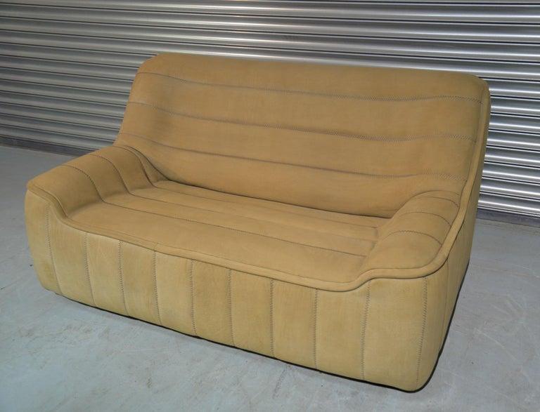 Mid-Century Modern Vintage De Sede DS 84 Leather Sofa, Switzerland 1970s For Sale