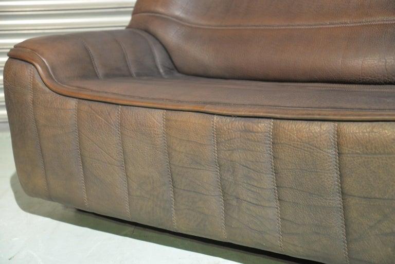 Late 20th Century Vintage De Sede DS 84 Leather Sofa, Switzerland 1970s For Sale