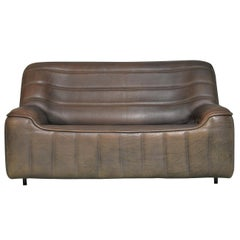 Vintage Swiss De Sede DS 84 Leather Sofa, 1970s