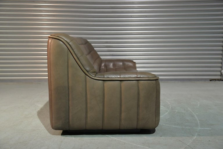 Vintage Swiss De Sede DS 84 leather sofa and armchair, Switzerland 1970s For Sale 4