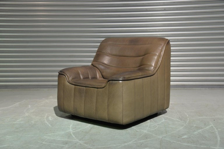 Vintage Swiss De Sede DS 84 leather sofa and armchair, Switzerland 1970s For Sale 5